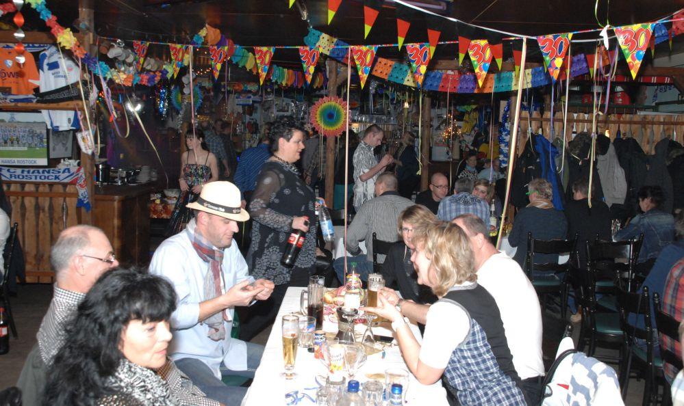 Jahreswechsel Feier im Hansaviertel der Hansestadt Rostock 2013 / 2014