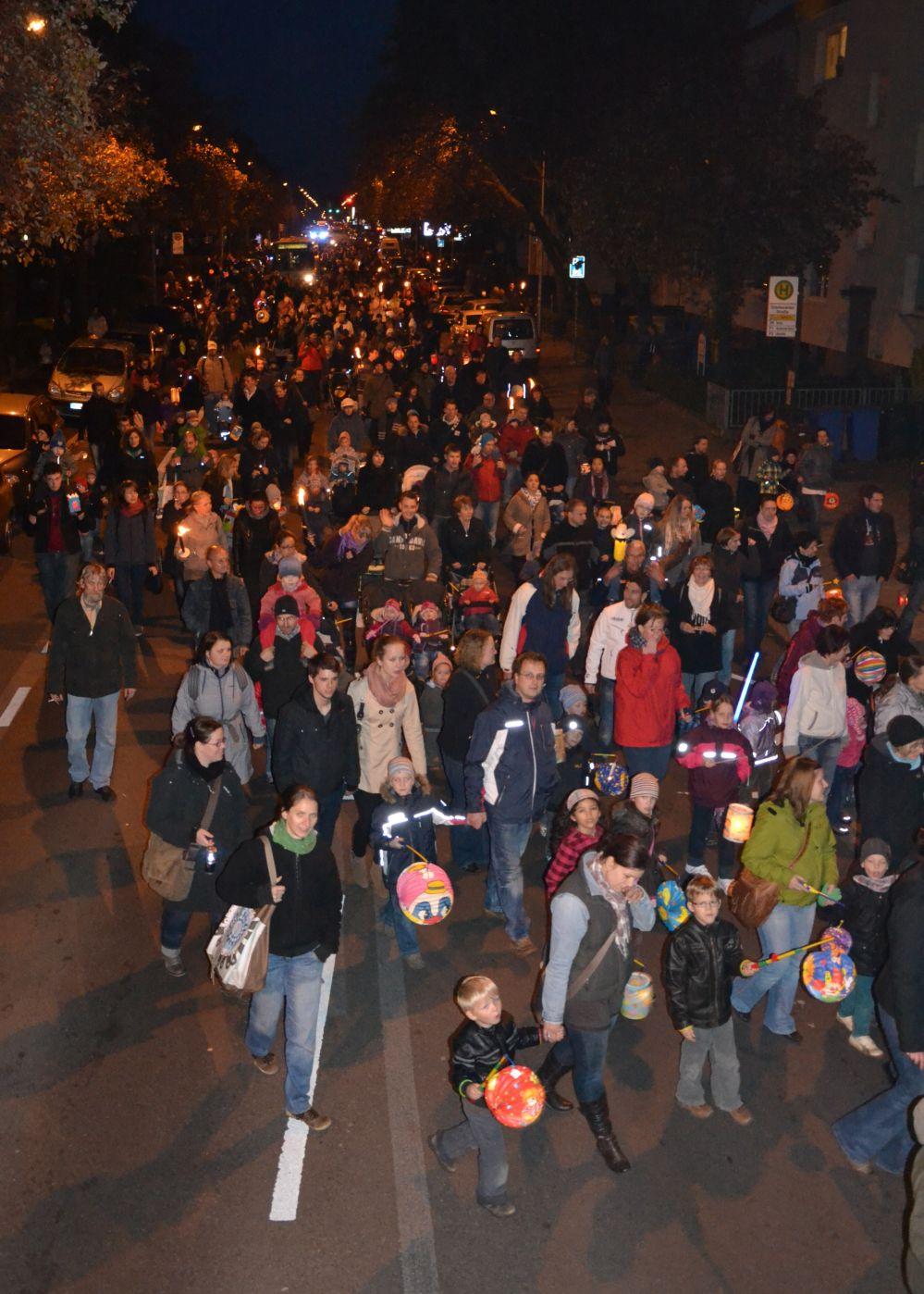 Lampionumzug in Warnemünde zum Martinsfest